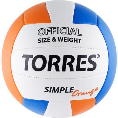 Мяч волейбольный Torres Simple Orange V30125