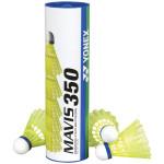 Воланы для бадминтона Yonex Mavis 350 Yellow-Middle (пластик/пробка), уп.6шт.