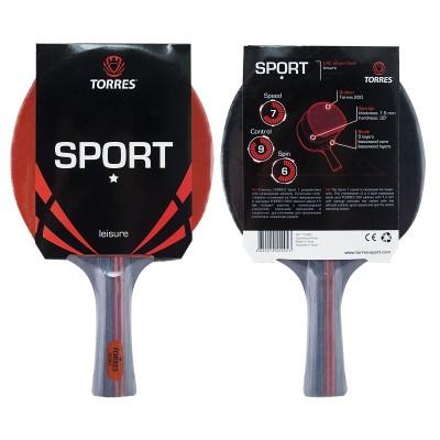 Ракетка для настольного тенниса TORRES Sport 1*, арт.TT0005