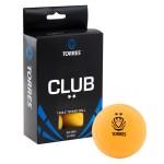 Мяч для настольного тенниса TORRES Club 2*, арт.TT0013 (упак. 6 шт.)