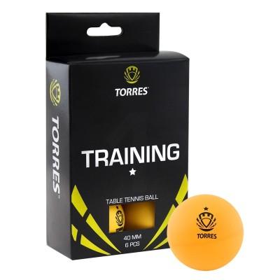 Мяч для настольного тенниса TORRES Training 1*, арт.TT0015 (упак. 6 шт.)