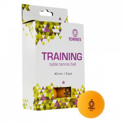 Мяч для настольного тенниса TORRES Training 1*, арт.TT21015 (упак. 6 шт.)