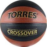 Мяч баскетбольный Torres Crossover (№7) B30097