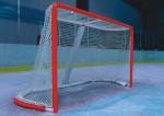 Сетка хоккейная любительская FS№X2.0 (Дл. 1,85 м, выс. 1,25 м, глуб. верх. 0,60 м, глуб. нижн. 1,20 м, нить 2,0 мм)