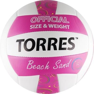 Мяч для пляжного волейбола Torres Beach Sand Pink V30085B