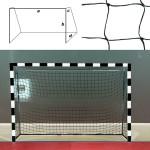 Сетка гандбольная/футзальная FS-G №15 (глуб. верх. 0,80 м, глуб. нижн. 1,00 м)