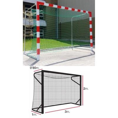 Сетка гандбольная/футзальная El Leon de Oro (a:3.0 b:2.0 c:0.8 d:1.0м, нить 4мм), арт.11444010002