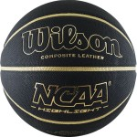 Мяч баскетбольный Wilson NCAA Highlight Gold (№7) арт.WTB067519XB07