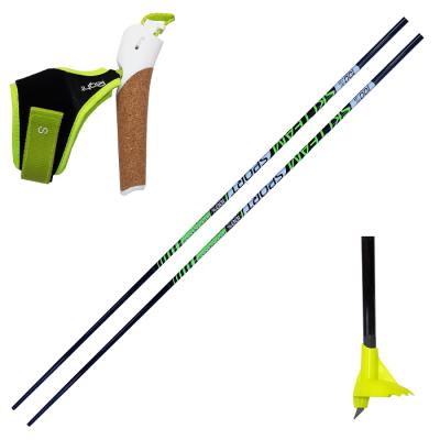 Палки лыжероллерные SKI TEAM SPORT Progressive (набор под обрезку) Карбон 100%