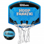 Набор для мини-баскетбола Wilson Hoop Fanatic Mini hoop kit, арт. WTBA00436 (щит с кольцом, мяч №1)