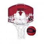 Набор для мини-баскетбола Wilson NBA Team Mini Hoop Chicago, арт. WTBA1302CHI (щит с кольцом, мяч №1)