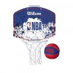 Набор для мини-баскетбола Wilson NBA Team Mini Hoop, арт. WTBA1302NBARD (щит с кольцом, мяч №1)